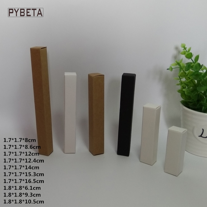 100pcs- Blank Kraft Paper Box White Paper Black Paper Eyeliner Pen Lipstick Gift Packaging Boxes