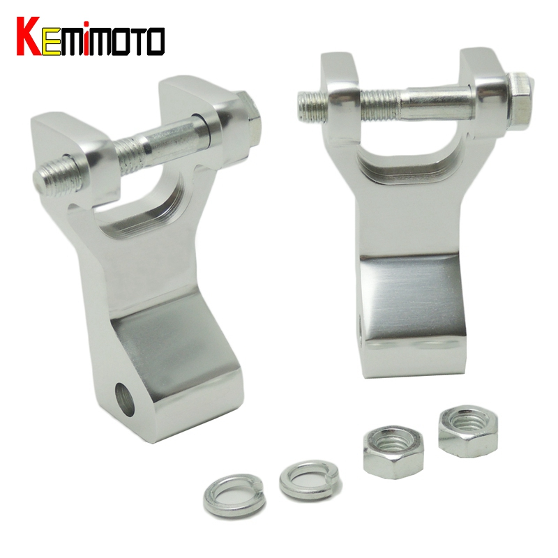 KEMiMOTO Aluminum ATV Front Lowering Kit for Yamaha Raptor 350 Raptor660 Blaster Warrior Silver Raptor350 Raptor 660 Link