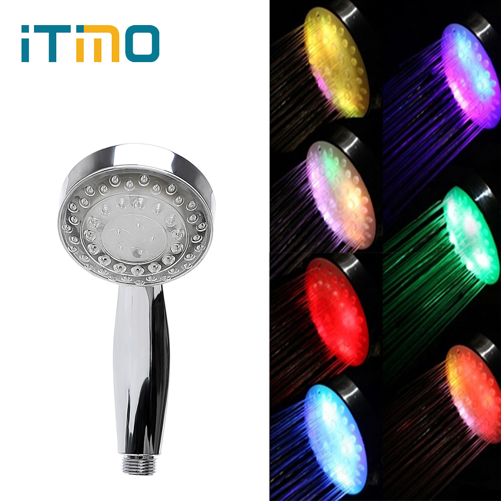 ITimo Novelty Lighting For Bathroom Glow Luminous 7 Colors Changing LED Shower Light Creative