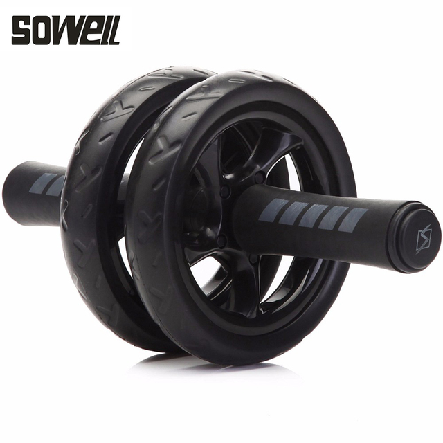 No Noise Abdominal Exercise Fitness Wheel with Mat