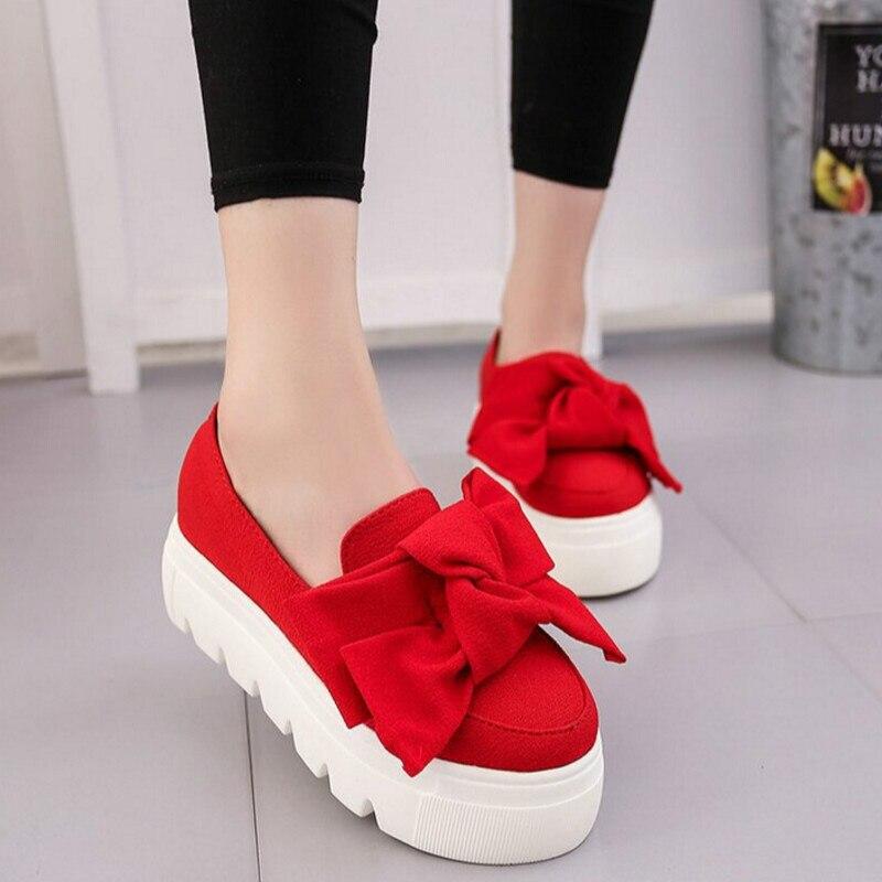 9750999cbd0 Pajarita Zapatos La Plano Lanas De Las verde Moda Negro Primavera rojo Fondo  Mujeres Baja Boca Mujer 0PUIwP5qn