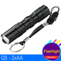 Lampe Toche AA Battery 3W LED Torch Pocket Lamp Mini Black Q5 Outdoor Lighting Waterproof Diving Linterna LED Flashlight