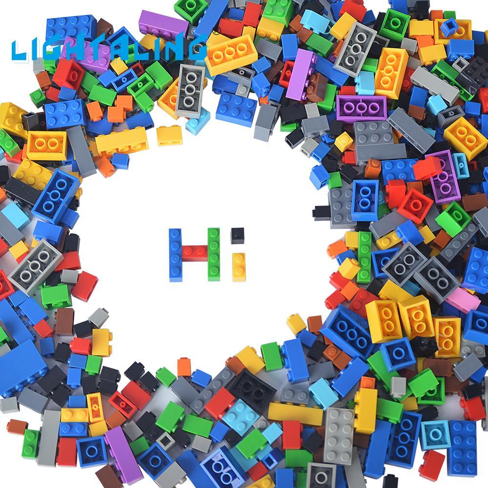 Lightaling Building Blocks Kids Educational Gift DIY Creative Free Style 1000pcs Brick Model Kits Children Toys