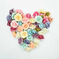Multicolor 10 piezas 4 cm flores artificiales para el hogar accesorios de decoración de boda regalos de costura flores falsas Pared de seda rosa