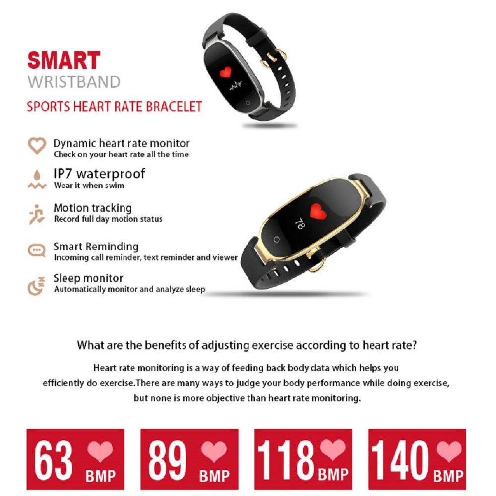 New S3 Plus Color Screen Smart Wristband Heart Rate Monitor Sleep Fitness Tracker Waterproof Bracelet For Lady Women Smart Watch
