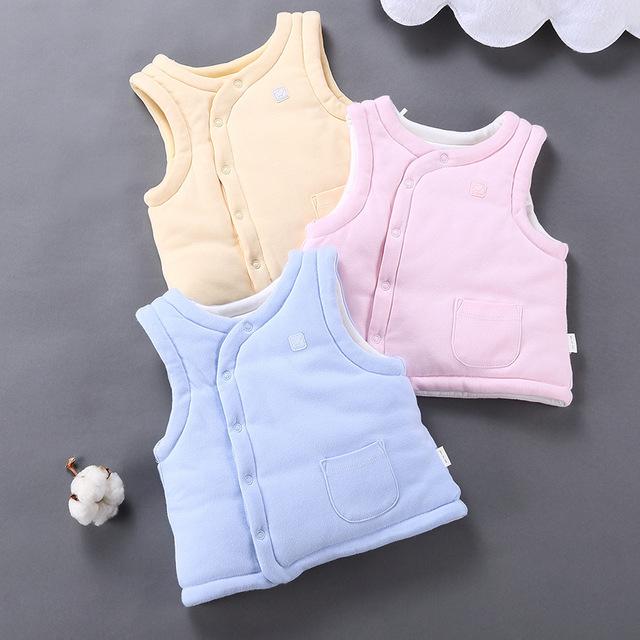 Coletes de inverno infantil meninos das meninas do bebê algodão-acolchoado cardigan outerwear criança 3 camadas colete casacos quentes do bebê topwear clothing