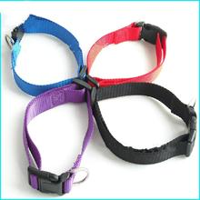2019 Wholesale pet supplies dog chain plain color nylon collar set traction rope manufacturers direct customizatio