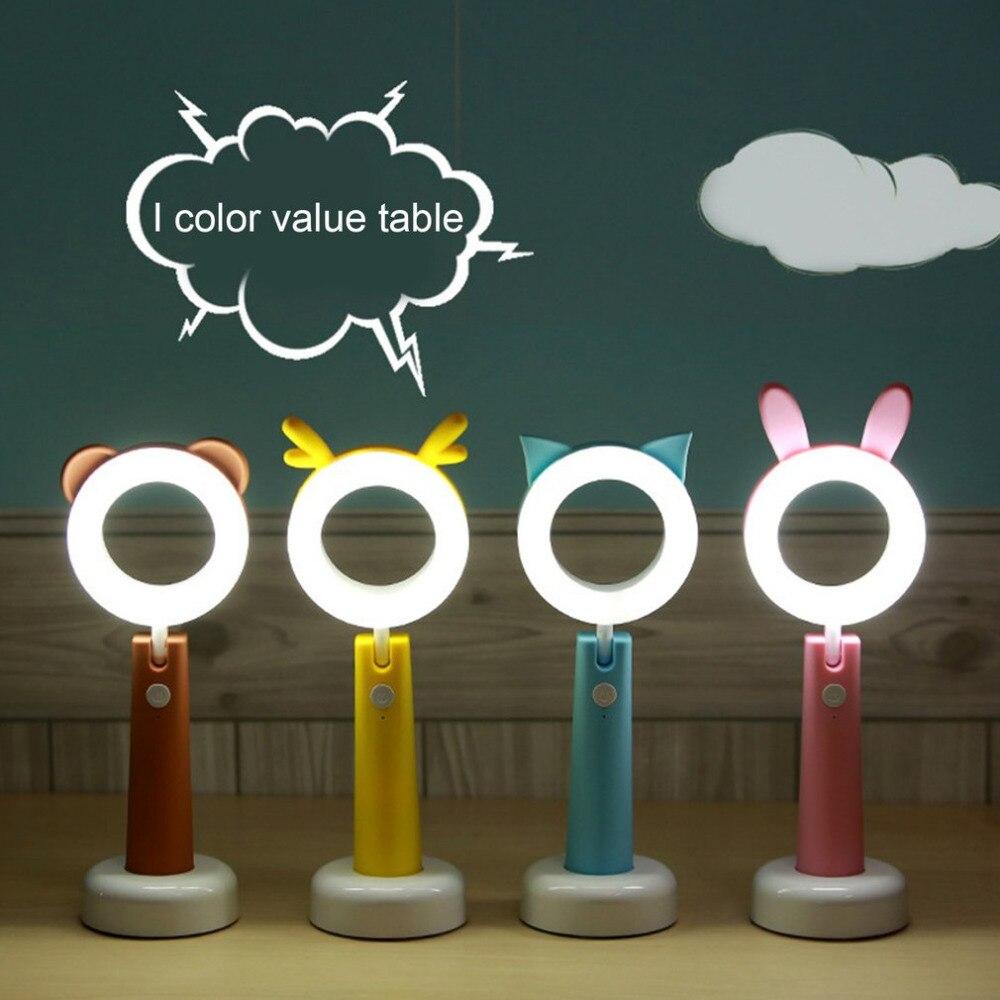 Творческий LED лампа для чтения зарядка через USB настольная лампа защиты глаз студенты свет Спальня прикроватная лампа ночник 4 Тип
