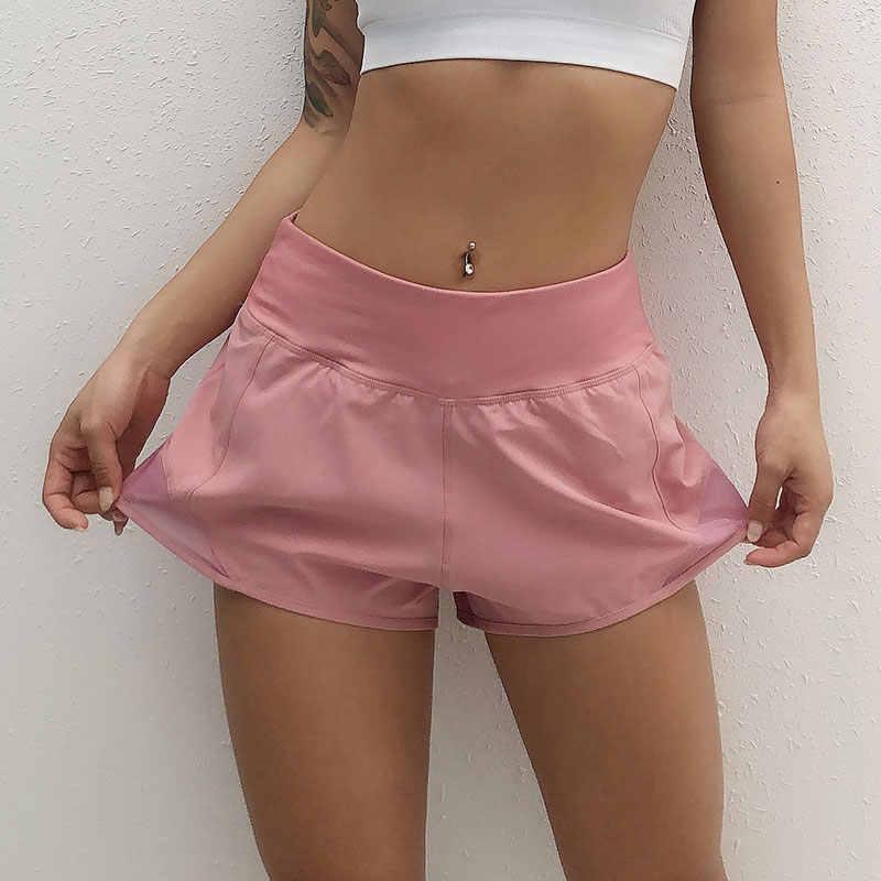 Yoga Shorts Women Fitness Top Spandex Neon Elastic Lulu Running Workout Short Leggings For Ladies Gym Sport Shorts