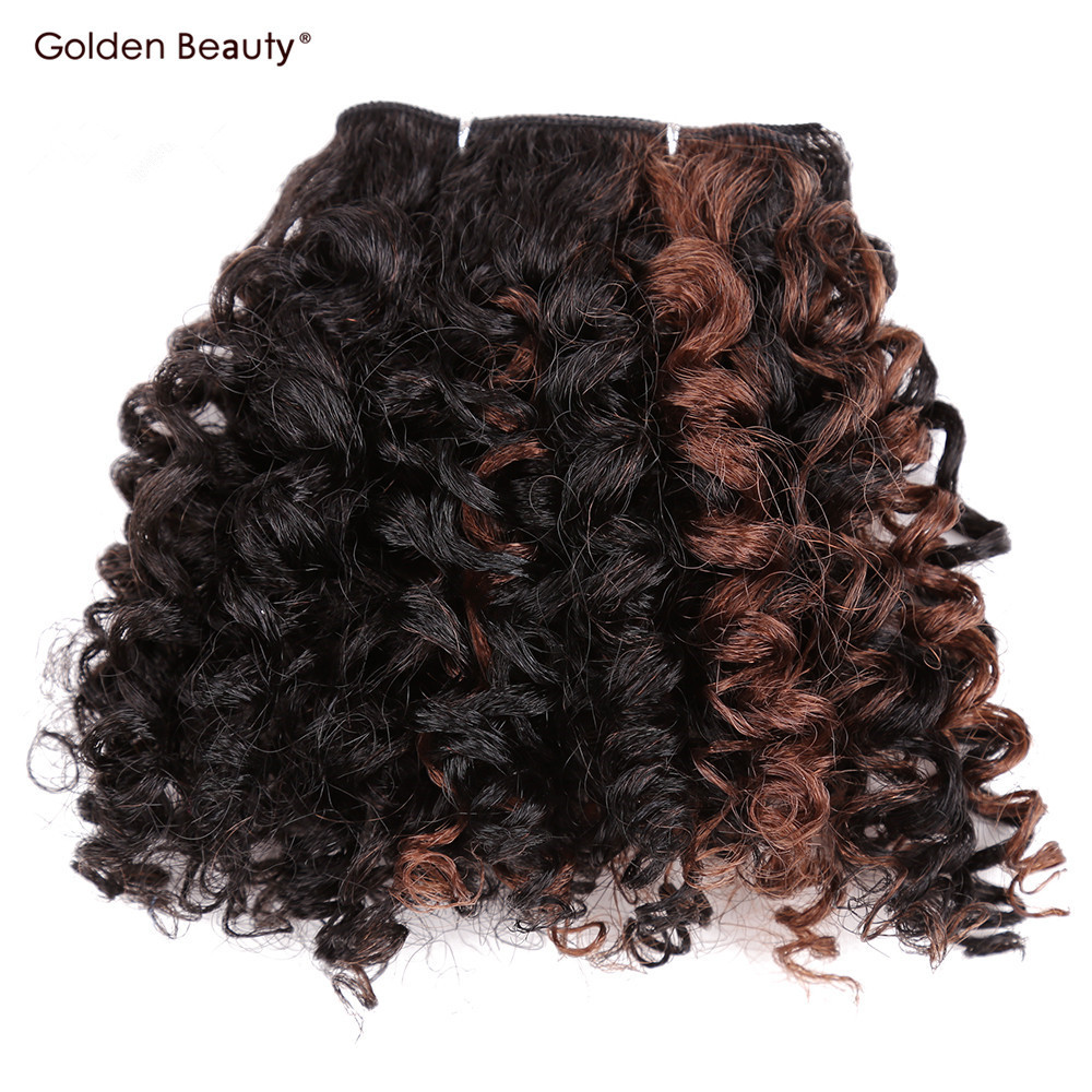 Golen Beauty 6inch 6pcs Pack Noble Gold Hair Extensions