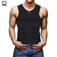 Comfort Neoprene Zipper Waist Trainer Vest Corset Shapewear For Men Body Shaper Slimming Workout Thermal Muscle