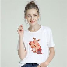 BTFCL Summer 2019 Casual Women T Shirt Streetwear Kawaii Cartoon Cute Pig Print Tshirt Korean Tops Harajuku Short Sleeve TShirt