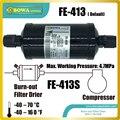 FE413S hermetische filtertrockner schützen kälte-und klimaanlagen von feuchtigkeit, säuren, und feststoffpartikel