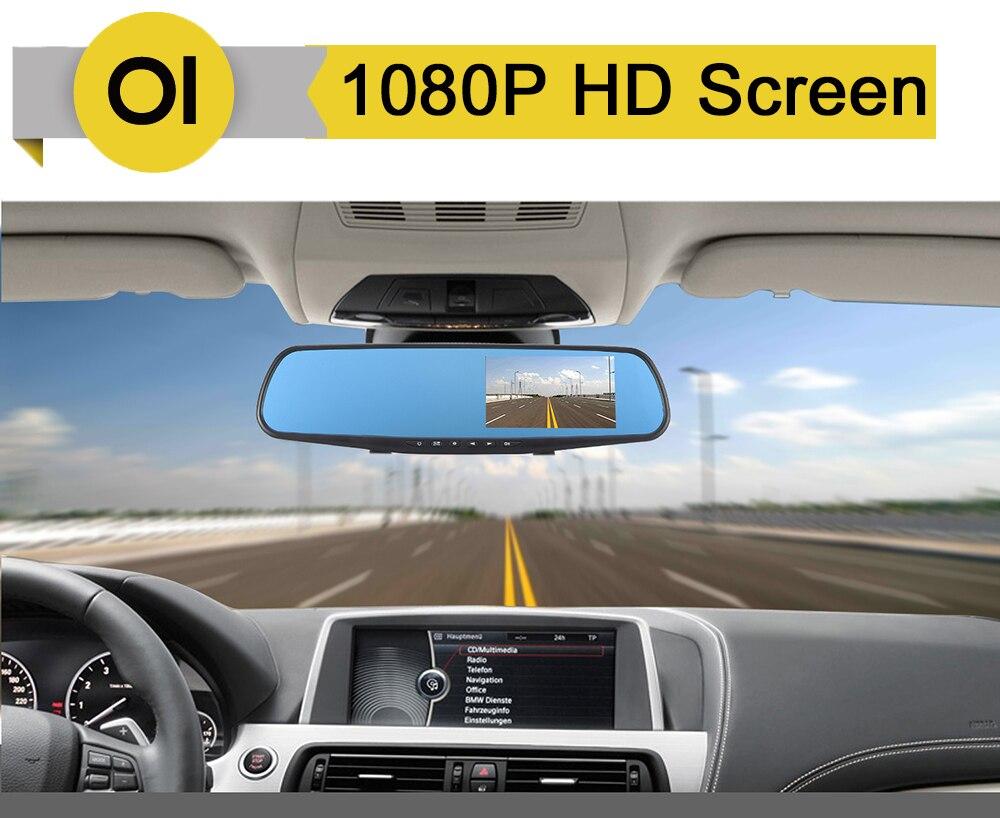 4,3 zoll 1080P auto rückspiegel Auto Dvr full HD 1080p auto fahren video recorder kamera auto reverse bild dual objektiv dash dfdf