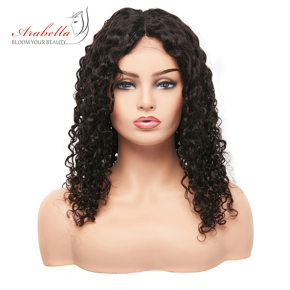Brazilian Funmi Curly Human Hair Wig 180 Density Natural Color Arabella Remy Hair Lace Front Pre