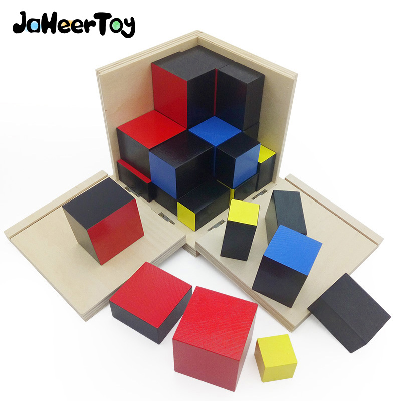 JaheerToy Baby Toys for Children Montessori Educational Toy Trinomial Aids Building Blocks 3-4-5-6 Years foe Kids Cube forest animals 100pcs blocks girls 1 6 years educational baby toys environmental protection wooden children creature boy toy