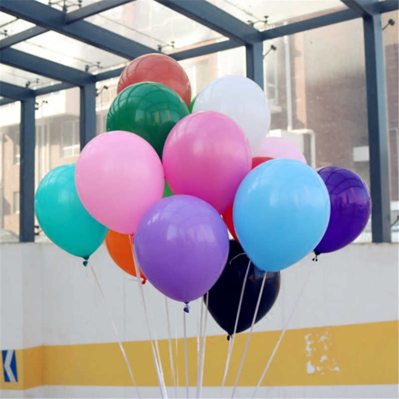 Pink Balloons 10pcs 12 Inch Thick 2.2g Wedding Decorations Latex Balloon Happy Birthday Party Ballon Inflatable Helium Air Balls