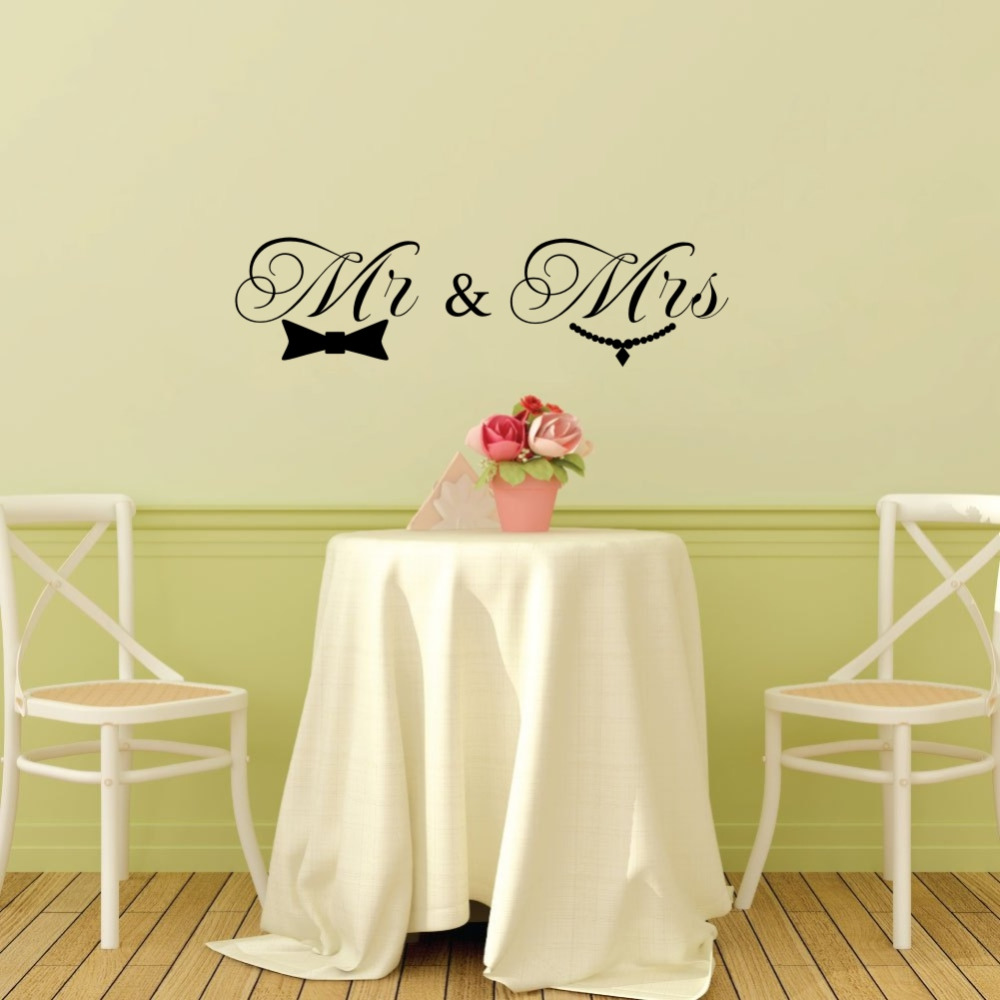 Mr and Mrs Love Quote Vinyl Wall Decal Sticker for Room Decor or ...
