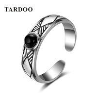 TARDOO High Quality 925 Sterling Silver Brand Open Rings For Women Ladies Stylish Retro Fine Jewelry