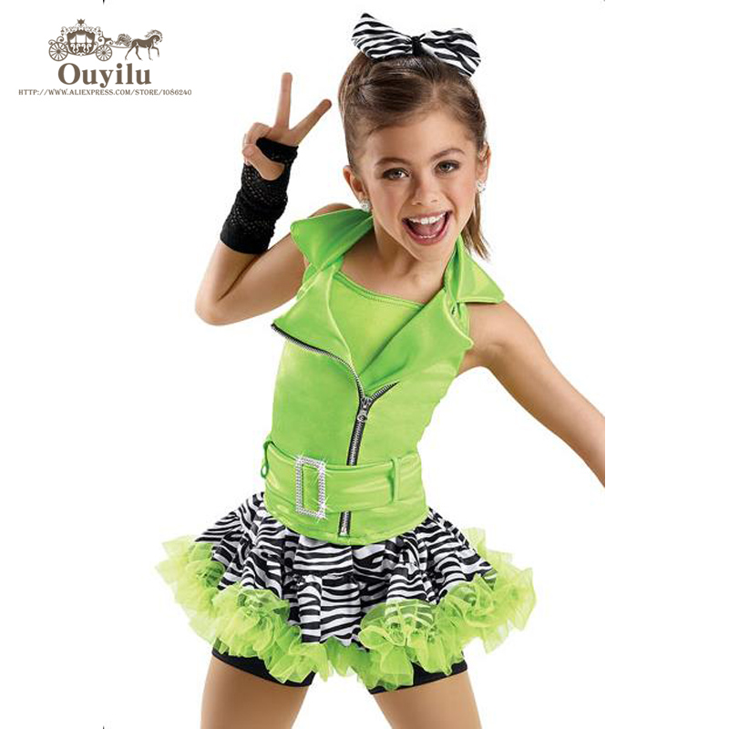 Girls Jazz Dance Costumes Tap Dress Kids Beyonce Costume Ballroom Dance Wear Stage Outfits For ...