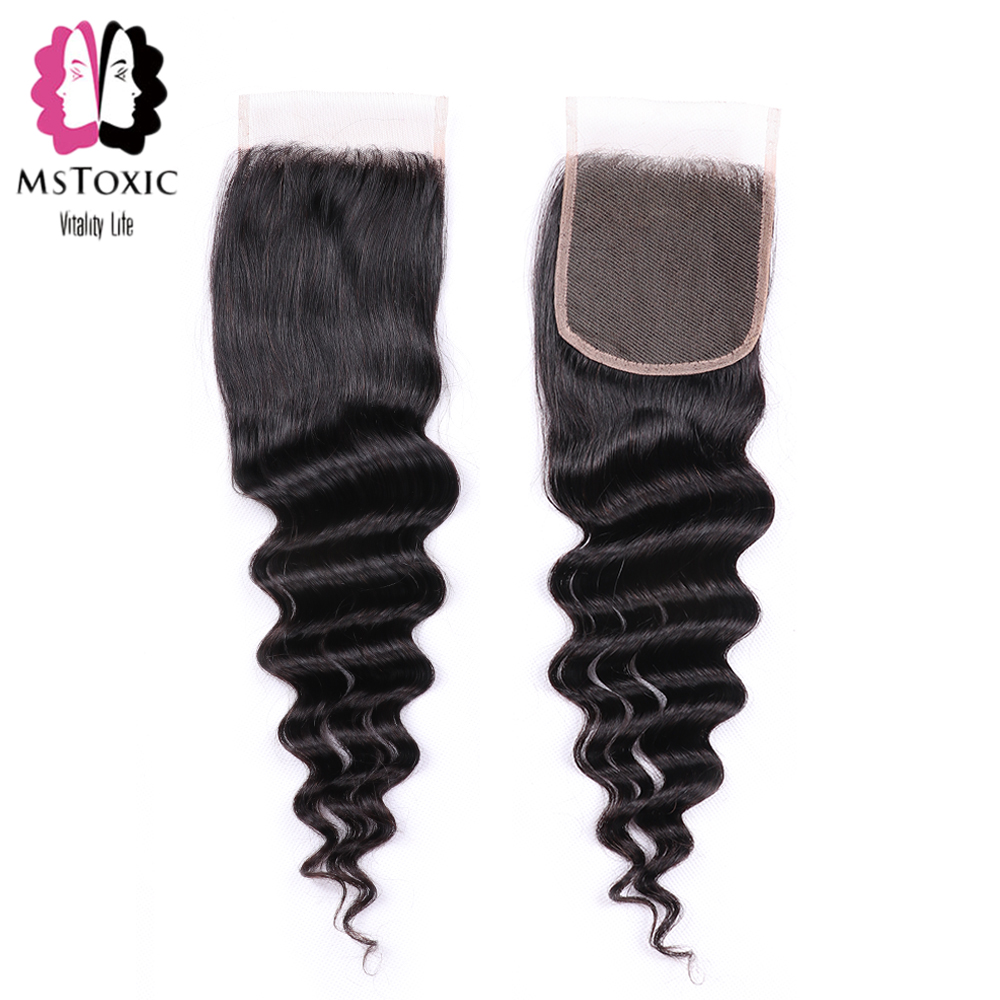 HTB1TupkayfrK1RjSspbq6A4pFXaG MsToxic Loose Deep Wave Bundles With Closure Brazilian Hair Weave Bundles With Closure Remy Human Hair Bundles With Closure