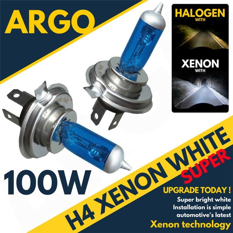 Headlight 100W 12V 8500K H 4 Xenon Lamp Super Bright Effect Headlight Lamp Bulb Fog Lights Driving Lamp @