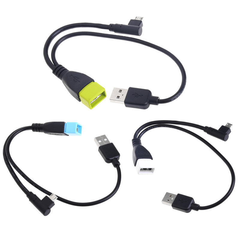Micro USB 5 Pin Male To USB 2.0 Female Host OTG Y-Splitter Power Adapter Cable Z07 Drop ship unitek y c444 usb 2 0 male to micro usb male data sync
