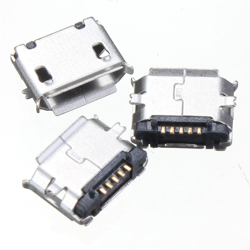 10 Pcs Mini Micro USB 5pin B Type Female Jack Socket Connector Plug Adapter for Phone MP3 MP4