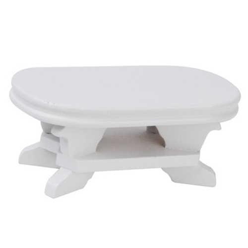 1:12 Кукольный миниатюрная мебель Кофе Таблица белый 9,5*5*4 см