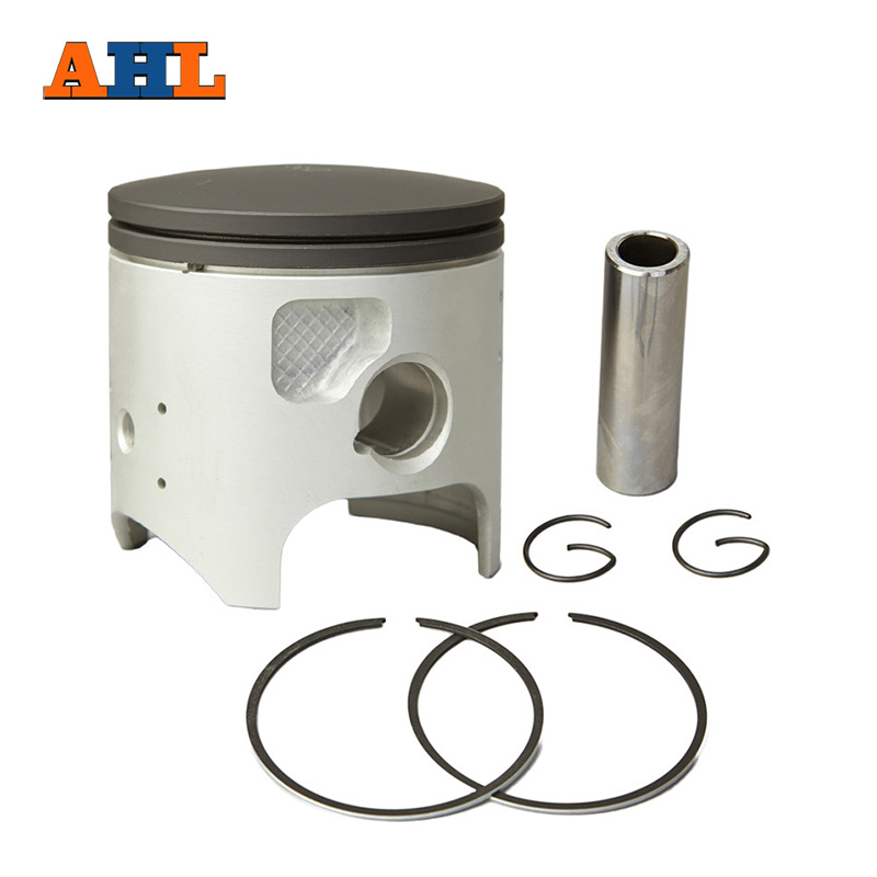 AHL Bore Size 66.5mm +50 Piston & Piston Ring Kit for KAWASAKI KDX200 KDX 200 Motorcycle Engine Parts Oversize 0.5mm