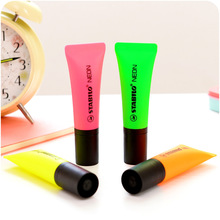 4 pcs/Lot Mini neon marker pen Fluorescent highlighter spot liner drawing Scrapbooking Stationery Office School supplies CB826