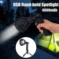 High Powerful 10W 10000lm Smuxi Portable Work Lamp L2 COB LED flashlight Spotlight zoomable Worklight Rechargeable waterproof