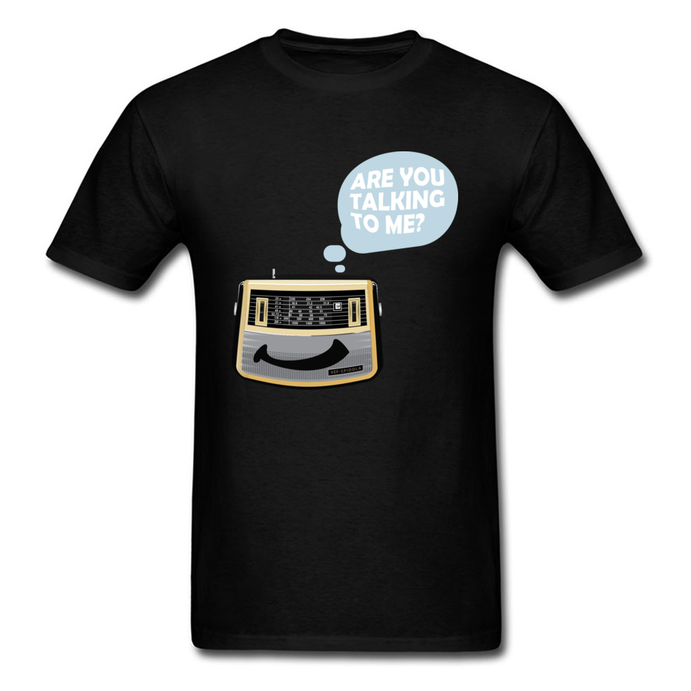 Don't Forget Good Old Radio T-shirt 2018 Funny Cartoon T Shirt Men Cotton O Collar Vintage Black Tshirt Wholesale