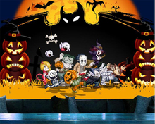 beibehang behang Custom papel de parede Art Mysterious Horror Halloween Haunted House Large KTV Background Wallpaper