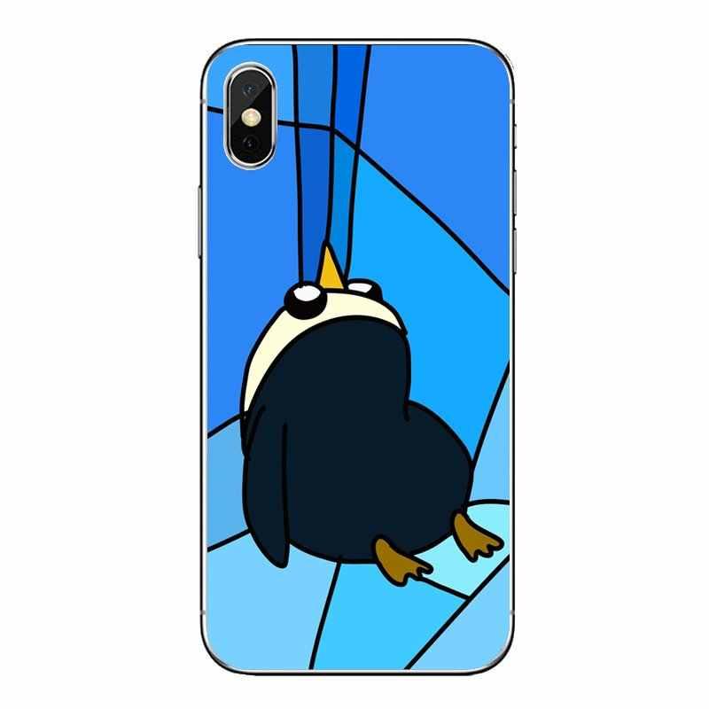 Мягкий прозрачный просвечивающийся чехол Чехлы для Xiaomi Redmi 4x S2 3 S Note 3, 4, 5, 6, 6A Por Pocophone F1 mi 6 из мультфильма «Время приключений» Pinguin желтого цвета