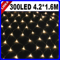 4.2*1.6M 300 LED Party Garden New Year Wedding Net Mesh String Fairy Garland LED Christmas Decoration Outdoor Light CN C-37