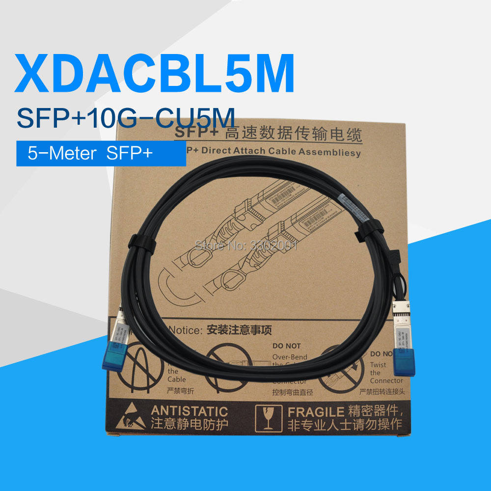 FANMI 5 Meter XDACBL5M 10Gb SFP Direct Attach Copper,3M SFP+10G CU5M to  SFP+ Cable,10Gb SFP Twinax Cable,AWG24 Passive-in Network Cards from  Computer