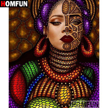 HOMFUN 5D DIY Diamond Painting Full Square/Round Drill Graffiti woman Embroidery Cross Stitch gift Home Decor Gift A09459