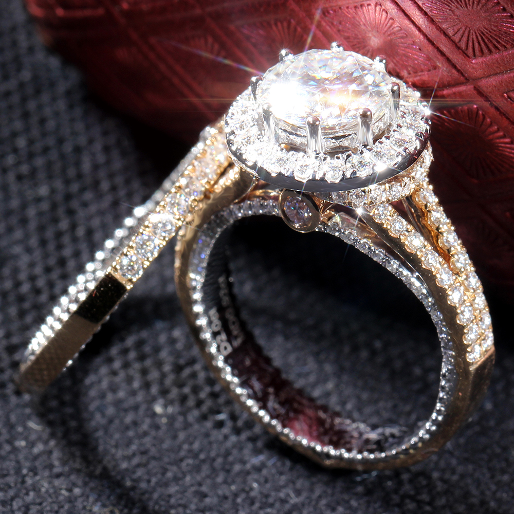 pave rings pear gold halo ring colorless engagement rose wedding huge shaped vintage media estate diamond