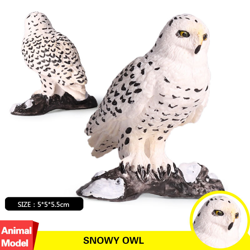 Figure Animal Children Gift Model-Collectible Action--Toy No S for Kid The-Snowy-Owl-Simulation