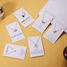 Rinhoo, модное ювелирное ожерелье с картой, круглый жемчуг, кристалл, сплав, ожерелье, элегантное женское ювелирное изделие, подарки, Прямая поставка