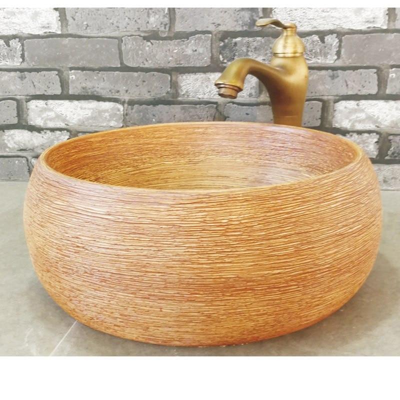 Bowl Shaped Bathroom Vessel Washing Sink Modern Vanity BasinBowl Shaped Bathroom Vessel Washing Sink Modern Vanity Basin