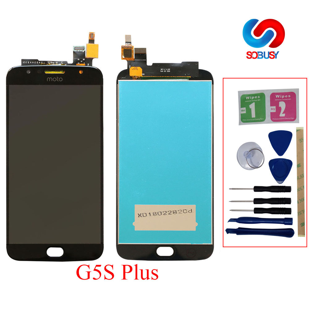 For Motorola Moto G5S Plus XT1802 XT1803 XT1805 XT1086 LCD Display Touch Screen Digitizer Senor Assembly LCD Replacement Parts|Mobile Phone LCD Screens| |  - title=