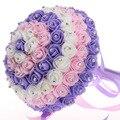 Nuevos Cristales Perlas de Rose de Seda Ramo De La Boda Decoración Artificial de Alta Calidad Novia Con Flores de Dama De Honor Baratos