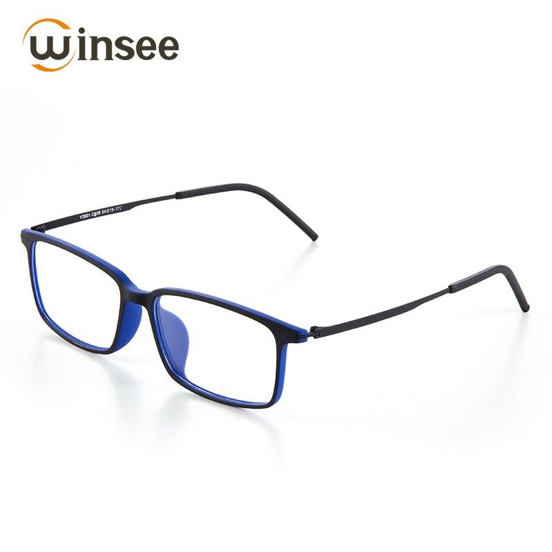 Winsee eyeglasses frame blue light bloking glasses clear for computer work TR90 men frame Full Rim Frame Plastic