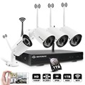 DEFEWAY 4CH H.265 + Draadloze Cctv-systeem 1080 P HD NVR kit met 1 TB Outdoor IR Night IP Camera wifi Camera Security System 4 Stuks