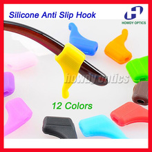 Glasses Holder Ear-Hook Temple-Tip Anti-Slip Silicone Soft 1pair 12-Colors Comfortable
