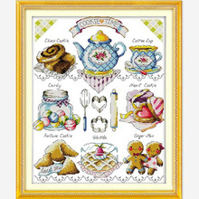 Joy Sunday Cartoon Style Tea Cake Popular Cross Stitch Handw