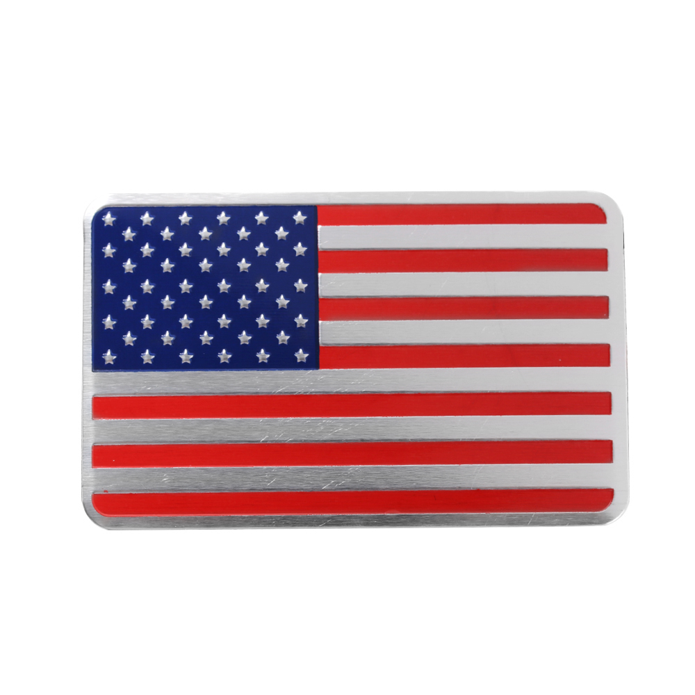 3D Metal USA United States American Flag Map Emblem Car Side Body Sticker Decal
