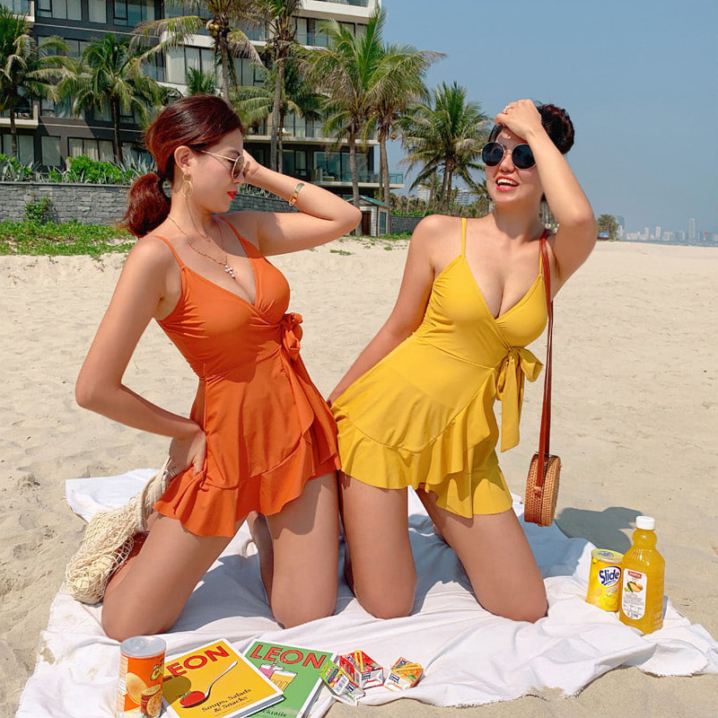 Swimming Rash Guard For Women Rashgard Tankini Swimsuits Summer Clothes Swimsuit Female Sexy 2019 New Separation Skirt Korea Ins